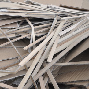 Corrugated paper crushing article edge